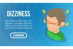 Dizziness concept banner, isometric style Product Image 1