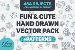 Fun & Cute Hand Drawn Vector Pack +Patterns Product Image 1
