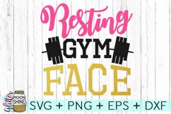 Resting Gym Face SVG DXF PNG EPS Cutting Files Product Image 1
