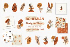 Boho Plants and Shapes Collection, Seamless Pattern, Clipart Product Image 1