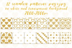Golden Hearts. PNG, JPG Product Image 2
