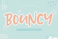 BOUNCY Lovely Cute Handwritten Font Product Image 1