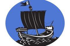 galleon tall ship sailing sea Product Image 1