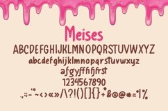 Web Font Meises - Doughnut Font Product Image 5