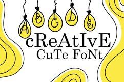 Bulb Font - A Cute Hanging Bulb Font Product Image 2