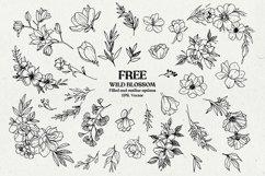 Wild Blossom - Hand sketched Floral & Botanical elements Product Image 1