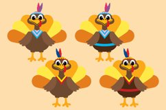 Thanksgiving Turkey Bundle Clipart, Fall, PNG, JPEG, EPS Product Image 3