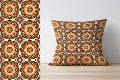 Ethnic Digital Paper, Mandala Seamless Pattern, Uzbek Suzani Product Image 3