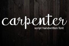 carpenter handwritten script font Product Image 1