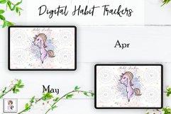 Digital Habit Trackers Y7 Yoga Series for Planner PRINTABLE Product Image 4