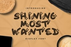 Web Font Shining Most Wanted Font Product Image 1