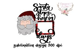 Santa Stops Here Sublimation Design Product Image 2