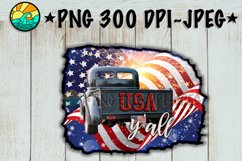 USA Y'all - Vintage Truck - PNG for Sublimation Product Image 2