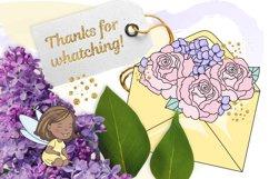 SPARKLING FAIRY Glitter Color Vector Illustration Set Product Image 5
