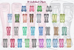 Wellington Boot Watercolor Clipart Product Image 3