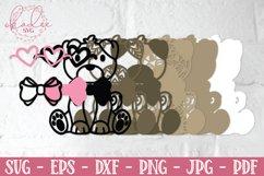 3D Valentine Puppies, Papercut Valentines, 3D Dog SVG Bundle Product Image 5