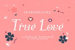 Web Font True Love Product Image 1
