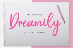 Dreamily - Cute Calligraphy Product Image 1
