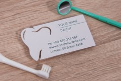 Dentist business card template cutting file Product Image 1