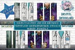 HealthCare 20oz Skinny Tumbler Sublimation Design Bundle Product Image 1