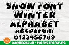 Snow Font SVG, Winter Svg, Christmas Alphabet Clipart Product Image 1
