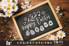 Happy Easter SVG   Happy Easter Sign SVG   Easter Eggs SVG Product Image 2