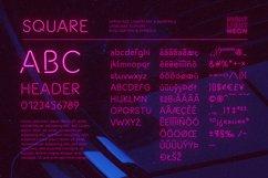 Night Light Neon Font - square Product Image 2