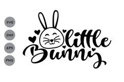 Little Bunny Svg, Easter Svg, Easter Bunny Svg, Bunny Svg. Product Image 1