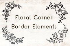 Flowers SVG Set of 12 - Floral Corner Border Elements Product Image 3