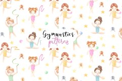 Watercolor Gymnastic Girls. Patterns and Cliparts Product Image 3