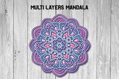 Mandala SVG 3d Layered | Multi Layer SVG | Floral Cut File Product Image 5