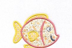 Yellow Tang Pet Fish Applique Machine Embroidery Design Product Image 4