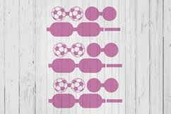 Soccer ball hair bow template svg dxf png ai files Product Image 1