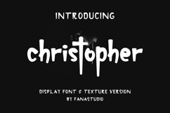 christopher-display font and texture version Product Image 1