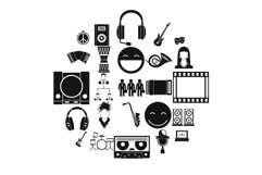 Speech icons set, simple style Product Image 1