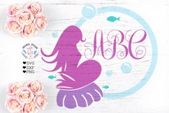 Mermaid Frame Cut File and Sublimation Product Image 1