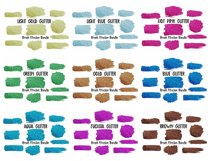 Brush Strokes Background Bundle Glitter & Watercolor PNG Product Image 5