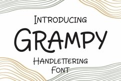 Web Font Grampy - Handlettering Font Product Image 1