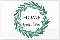 Sweet Home. Watercolor cliart Product Image 9