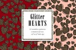 Valentine Digital Paper, Glitter Heart Pattern Product Image 4