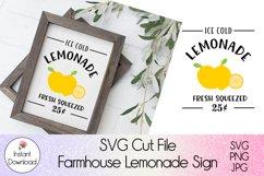Farmhouse Lemonade Sign SVG l Ice Cold Lemonade Cutfile Product Image 1