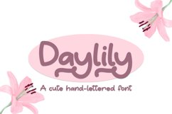 Daylily - A Cute Hand-Written Font Product Image 1