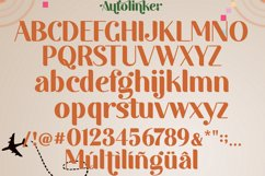 Autolinker Fancy Ligature Font Product Image 5