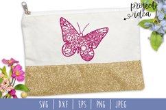 Butterfly Mandala Zentangle Bundle Set of 7 - SVG Product Image 3