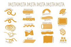 Pasta type set hand drawn Product Image 1
