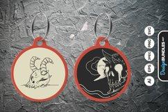 Satanic Devil Skull Keychain Product Image 1
