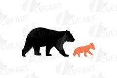 Baby and mama bear nursery clip art collection, bears print Product Image 3