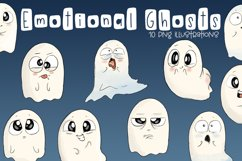 Emotional Ghosts | Halloween Clipart | PNG Product Image 1