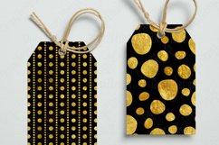 Gold foil Polka dot Black Seamless Pattern Product Image 6