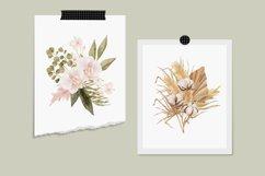 Boho floral clipart, spring flower elements Product Image 2